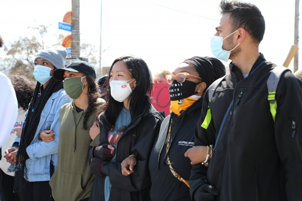 Asian-American Women Lead 'Stop Asian Hate' March in Cleveland's AsiaTown